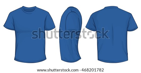 Royal blue t shirt front and back