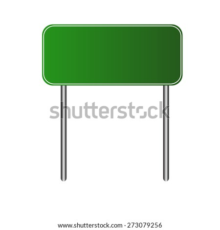 Vector illustration of Blank Green Road Sign - stock vector