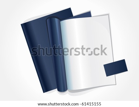 Vector illustration of blank page of a magazine - stock vector