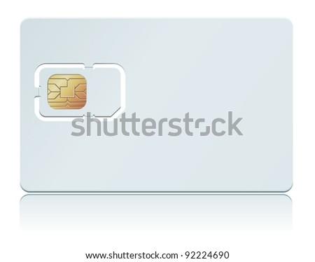 Vector illustration of blank SIM Card. - stock vector