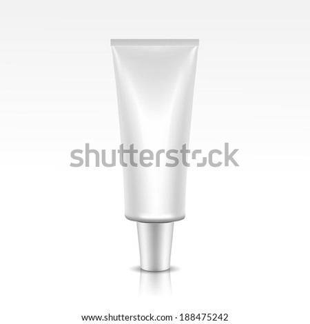 Vector Illustration of Blank Tube Package - stock vector