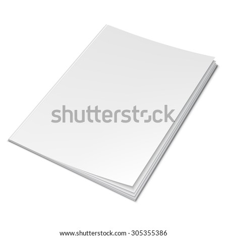 Vector illustration of book with empty blank cover