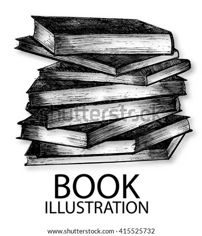 Vector Illustration of Books sketch : vector eps.10 - stock vector