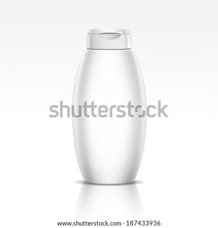 Vector Illustration of Bottle for Shampoo, Shower Gel or Liquid Soap - stock vector