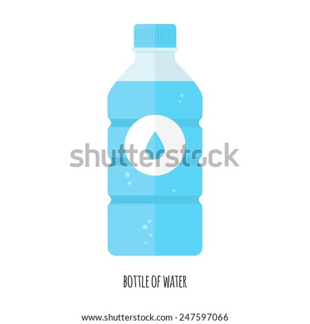 Vector Illustration of bottle of water - stock vector