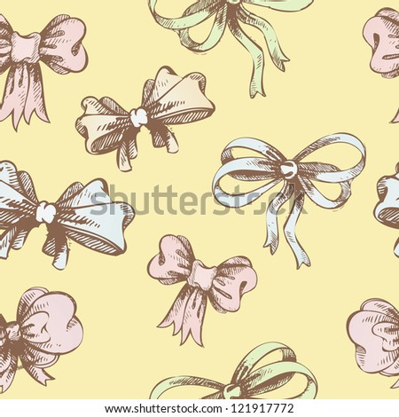 Vector illustration of bow background - stock vector