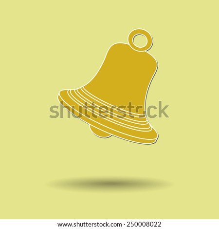 Vector illustration of  box bell color background. - stock vector