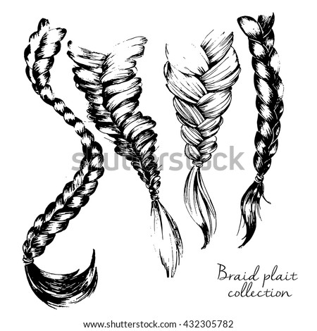 how to draw a fishtail braid
