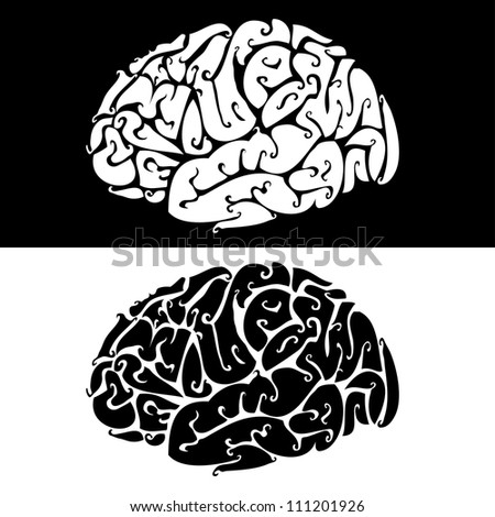 Vector illustration of brain backgrounds. - stock vector