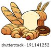 Vector illustration of breads set - stock vector