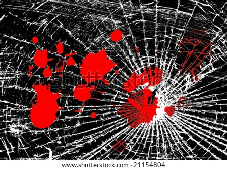 Vector illustration of broken glass - stock vector