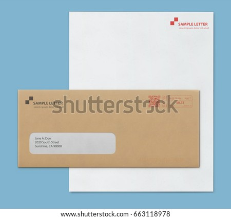 vector illustration brown envelope letters documents のベクター画像