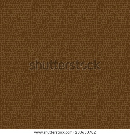 Vector illustration of brown Leather seamless pattern - stock vector