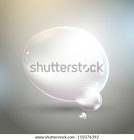 Vector illustration of bubbles on a grey background
