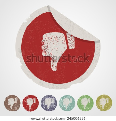 vector illustration of business and finance icon thumbs down - stock vector