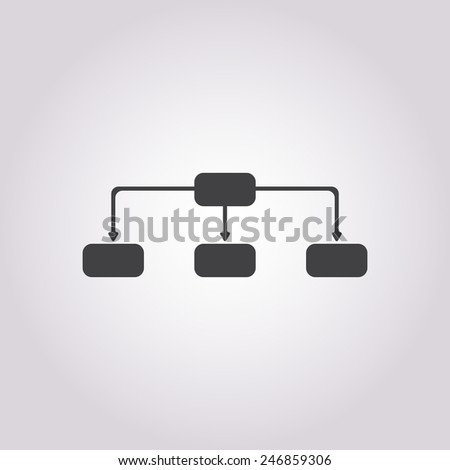 vector illustration of business and finance icon way - stock vector