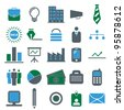 Vector illustration of business icons. - stock photo