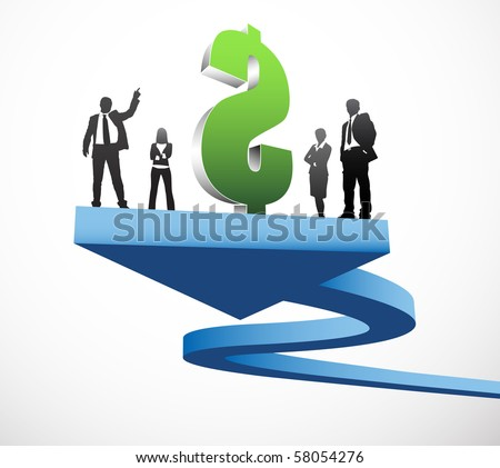 Vector illustration of business people - stock vector