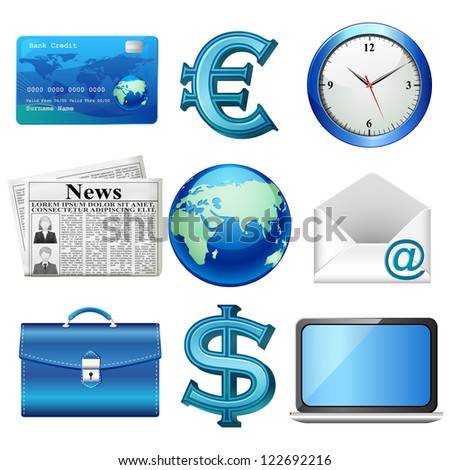 vector illustration of business related object - stock vector