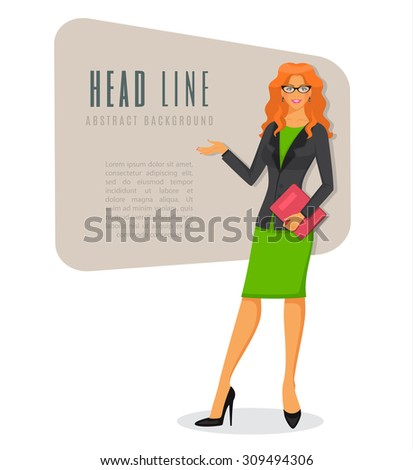 Vector illustration of Businesswoman in various poses - stock vector