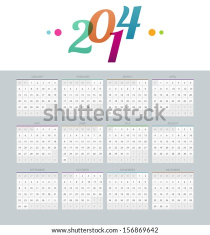 Calendar template Stock Photos, Illustrations, and Vector Art