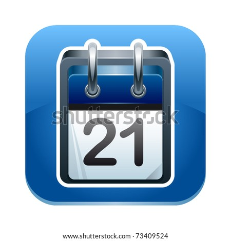 Vector illustration of calendar icon - stock vector