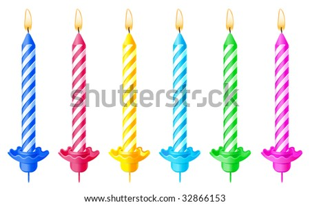 vector illustration of candles - stock vector
