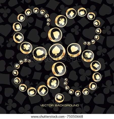 Vector illustration of card symbolic. - stock vector