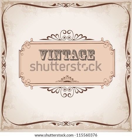 vector illustration of card with a vintage style - stock vector