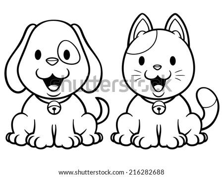 Cartoon Dog Coloring Pages Castrophotos