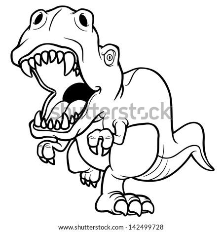 Vector Illustration Cartoon Dinosaur Coloring Book Stock Vector ...