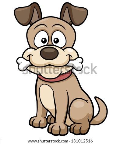 Vector illustration of Cartoon Dog - stock vector