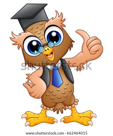 Vector illustration cartoon professor owl graduation stock vector vector illustration of cartoon professor owl with graduation cap voltagebd Choice Image