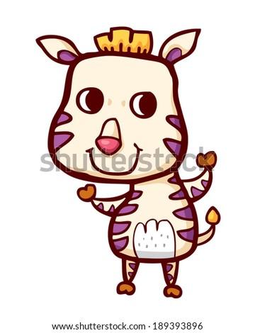Cute Baby Zebra Stock Illustration 595182074