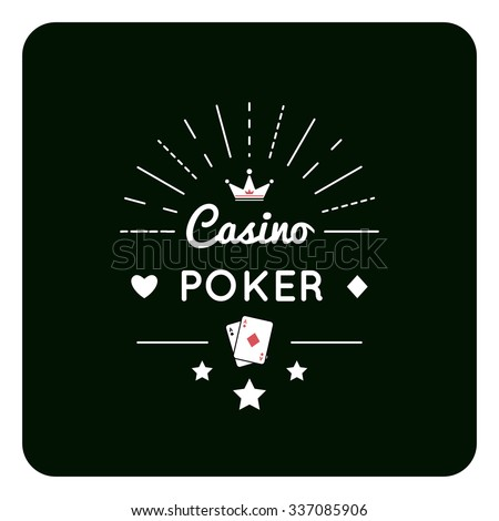 Vector illustration of Casino, Poker, chip design with crown .  - stock vector