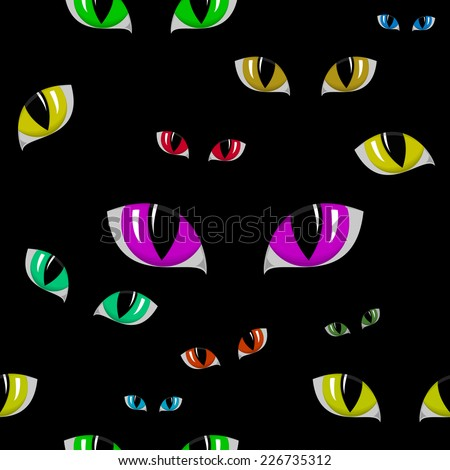 Vector illustration of Cat Eye Seamless Texture - stock vector