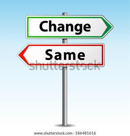 Vector illustration of change or same arrows signs