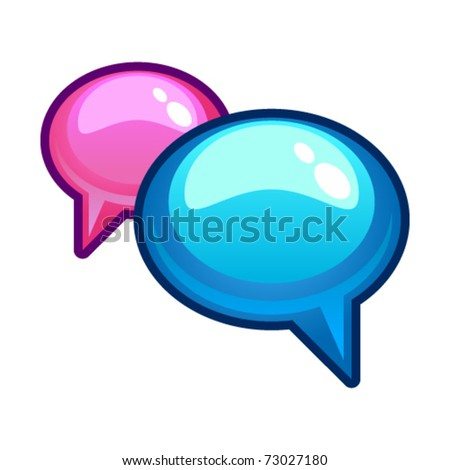 Vector illustration of chat icon
