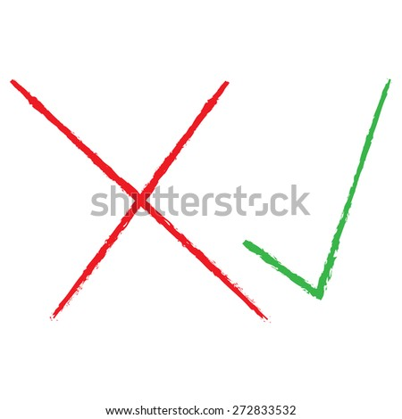 Vector illustration of check mark icons - stock vector