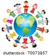 vector illustration of children around the world - stock vector