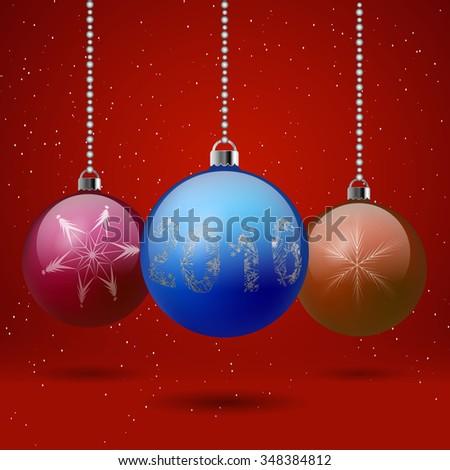 Vector illustration of christmas balls. - stock vector