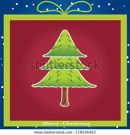 vector illustration of Christmas tree - stock vector