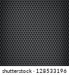 Vector illustration of chrome metal bilayers grid with rounded honeycombs - stock photo