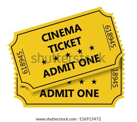 Vector illustration of cinema tickets - stock vector