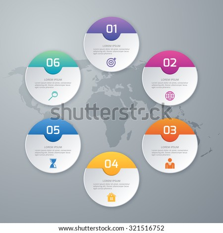 Vector illustration of circles infographics. - stock vector