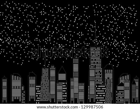 vector illustration of cities silhouette - stock vector