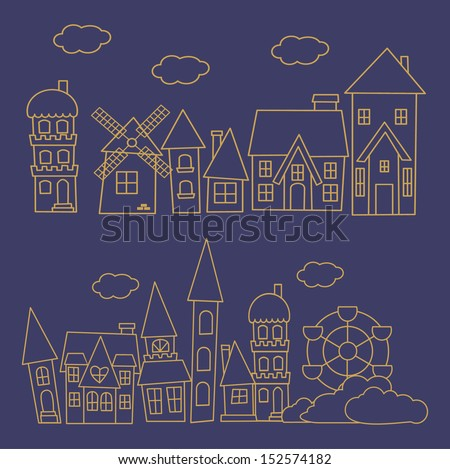 vector illustration of City skylines - stock vector