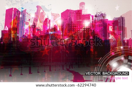 Vector Illustration of Cityscape - stock vector