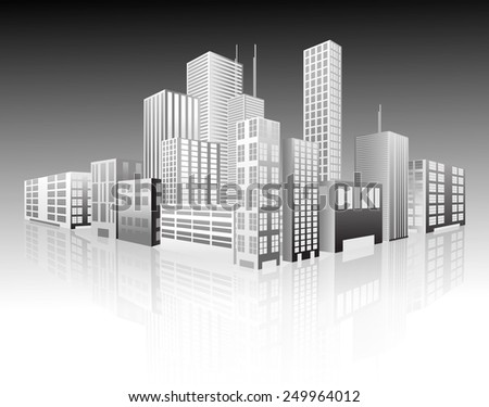 Vector illustration of cityscape. Eps10.