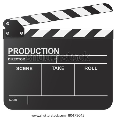 Vector illustration of clapboard - stock vector